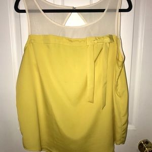 Lauren Conrad Yellow Sleeveless Blouse